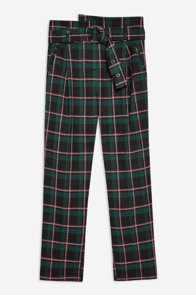 Topshop trousers plaid fall 2018