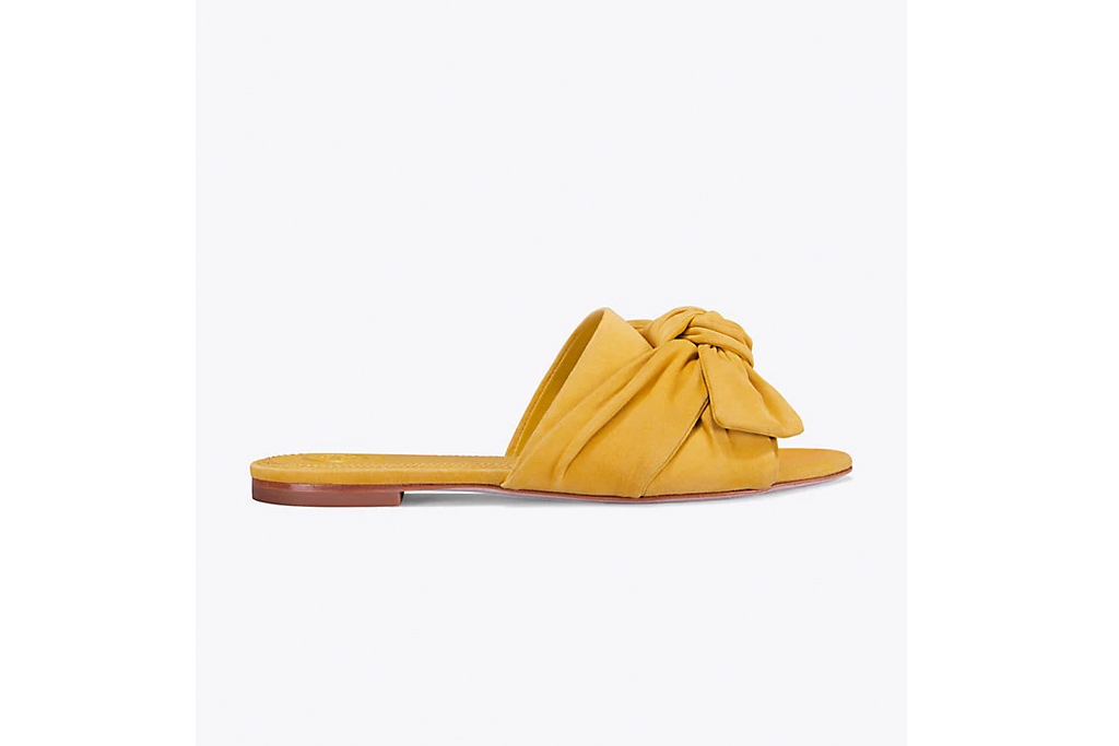 Annabelle Suede Bow Slide