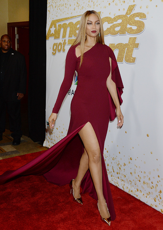 Tyra Banks'America's Got Talent' Live TV show Screening and Red Carpet, Los Angeles, USA - 21 Aug 2018?America?s Got Talent? - Live Show Screening and Red Carpet WEARING MARC BOUWER