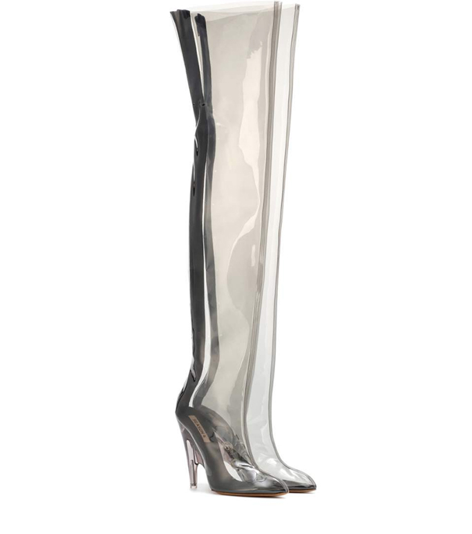 Yeezy YEEZY Tubular clear over-the-knee boots
