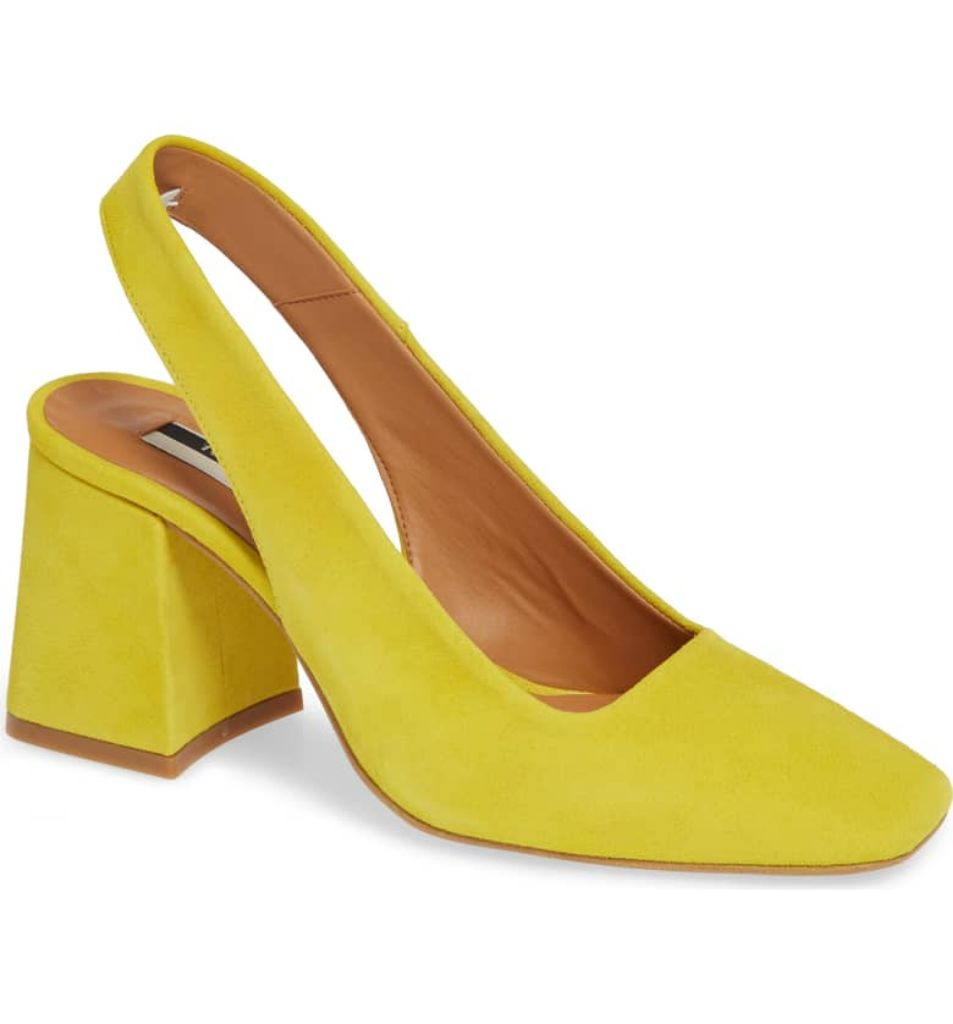 topshop yellow shoes fall 2018