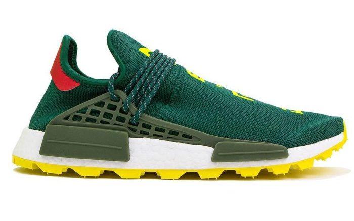 BBC x Pharrell 'N.E.R.D' x Adidas NMD Hu Green/Yellow