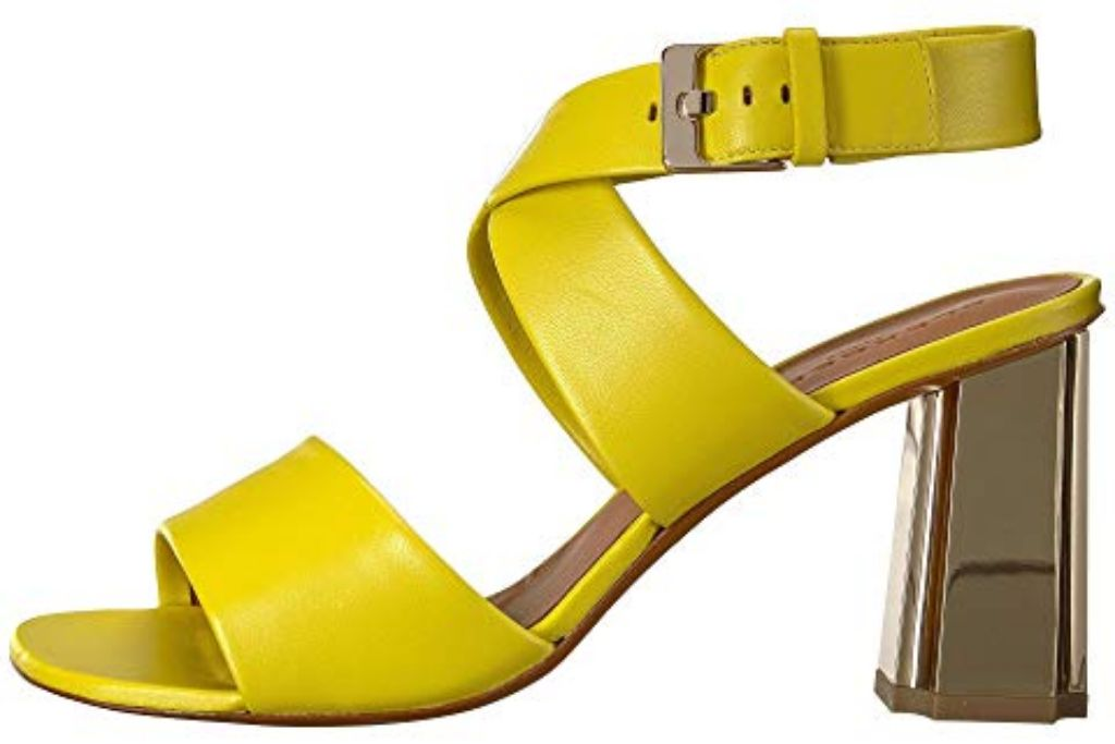 clergerie zora heel yellow shoes fall 2018