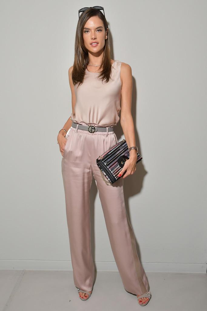 Alessandra Ambrosio, jumpsuit, heels, mfw