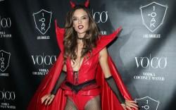 Alessandra Ambrosio, devil costume, halloween