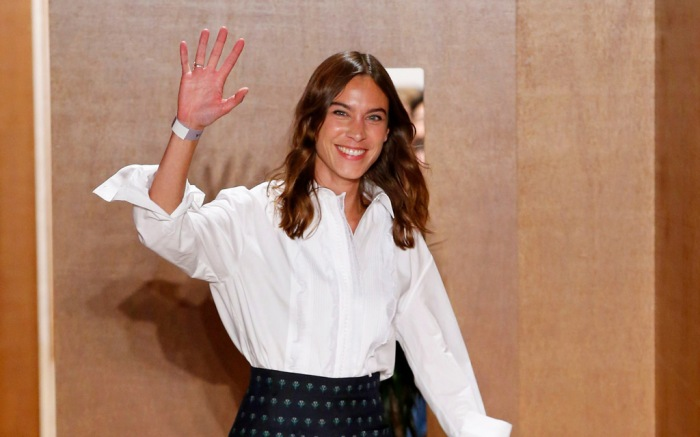 Alexa Chung at her spring '19 show, london fashion week, ss19
