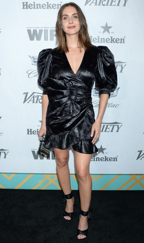 Alison Brie, variety, pre-emmys party, red carpet, celebrity style