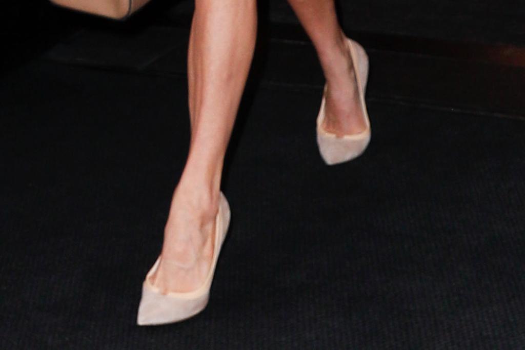 amal clooney, nude heels