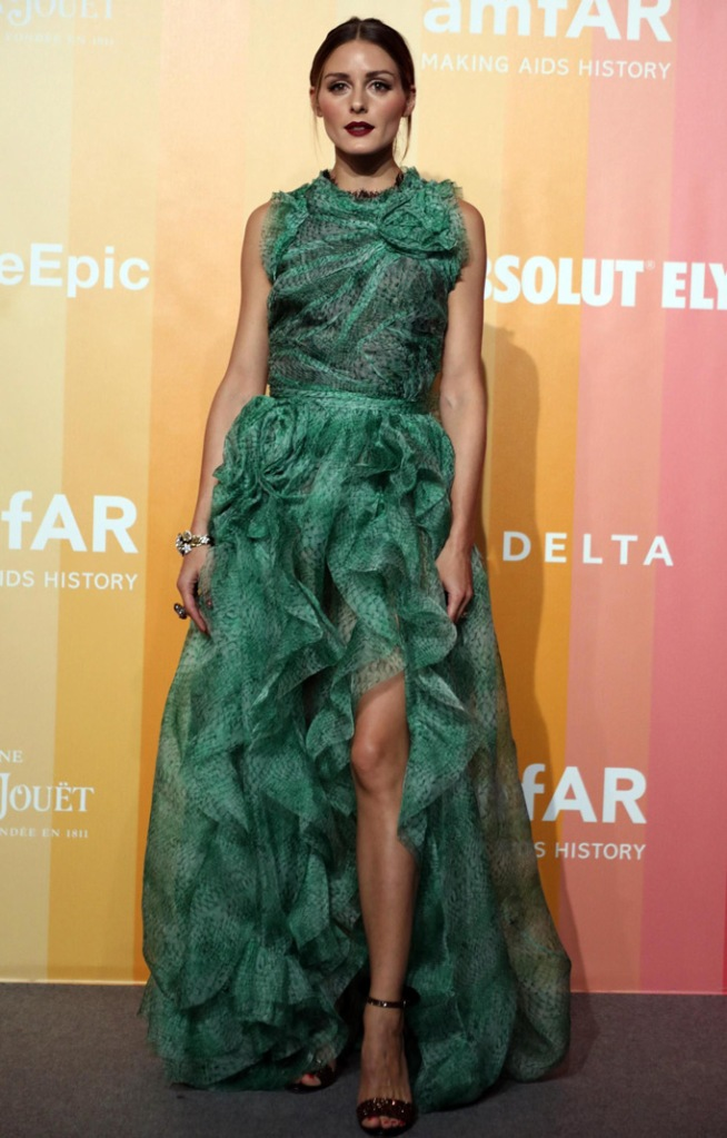 Olivia Palermo, red carpet, amfar gala