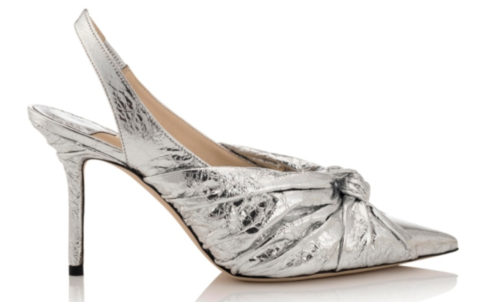 ANNABELL 85 – METALLIC FOIL LEATHER – SILVER