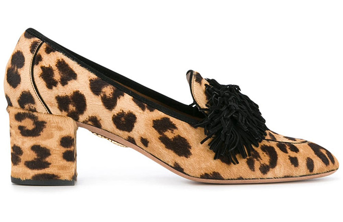 Aquazzura Leopard Wild Heeled Loafers