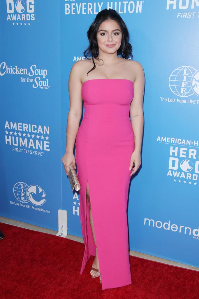 Ariel Winter, pink gown, red carpet,