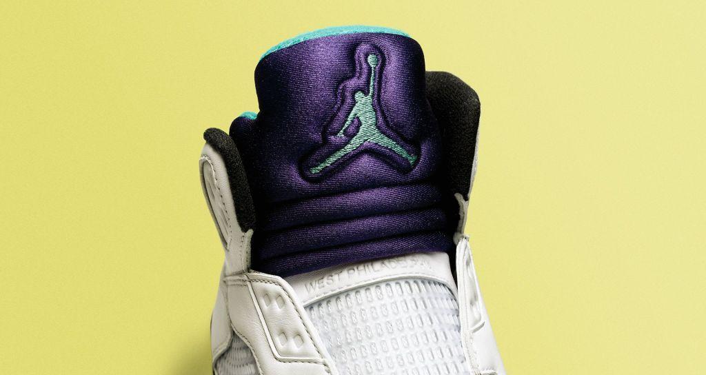 """Air Jordan 5 """"Fresh Prince"""" Tongue"""