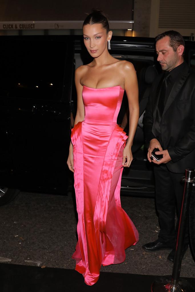 Bella Hadid, Paris Fashion Week, party, jean paul gaultier, ball gown