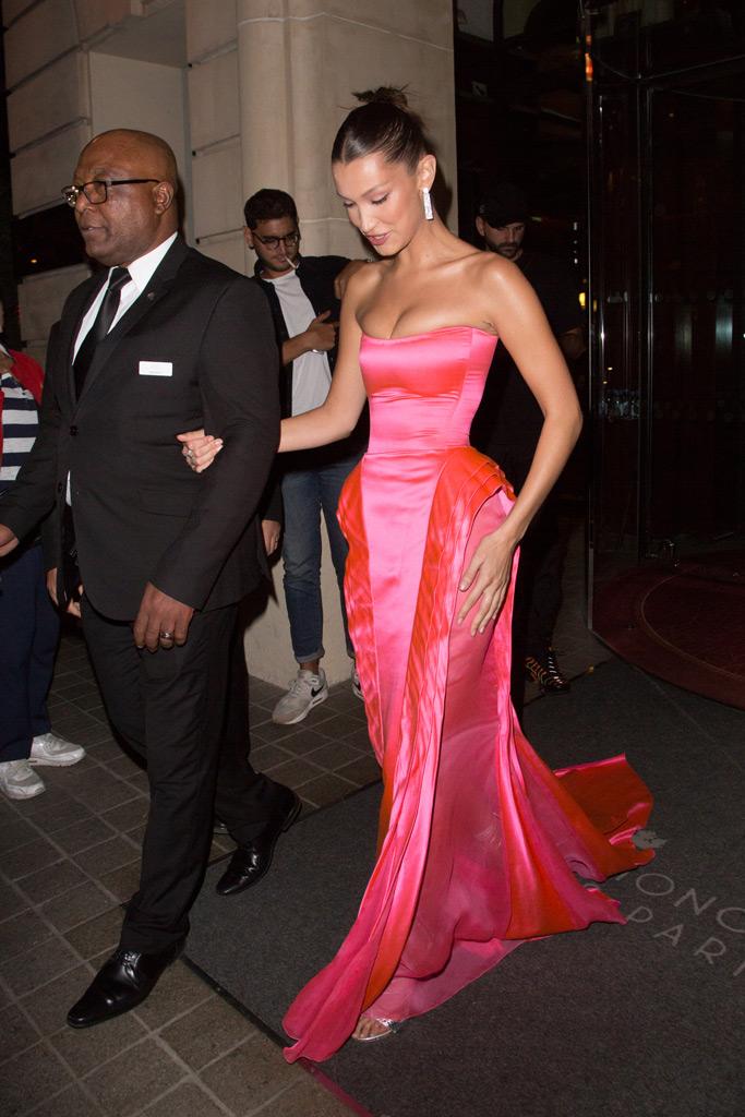 Bella Hadid, Jean Paul Gaultier, ball gown, paris fashion week