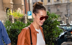 Bella Hadid Almost Flashes Fan in