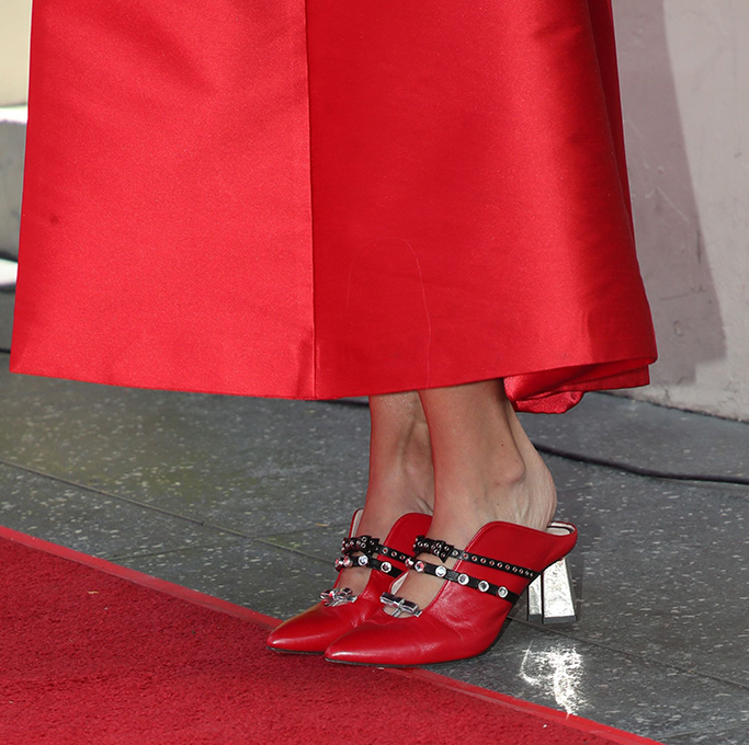 Minna Parikka's fall '18 mules, Carrie Underwood, shoe detailCarrie Underwood honored with Star on the Hollywood Walk of Fame, Los Angeles, USA - 20 Sep 2018