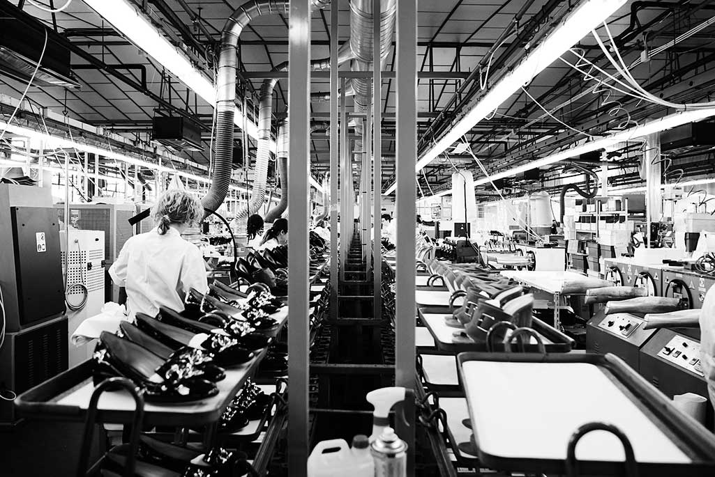 Inside the casadei factory.