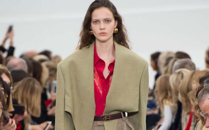 Celine spring 2018 runway at Paris Fashion Week