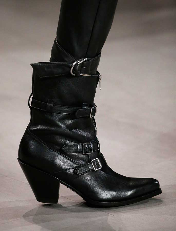 A unisex western boot from Celine spring '19.