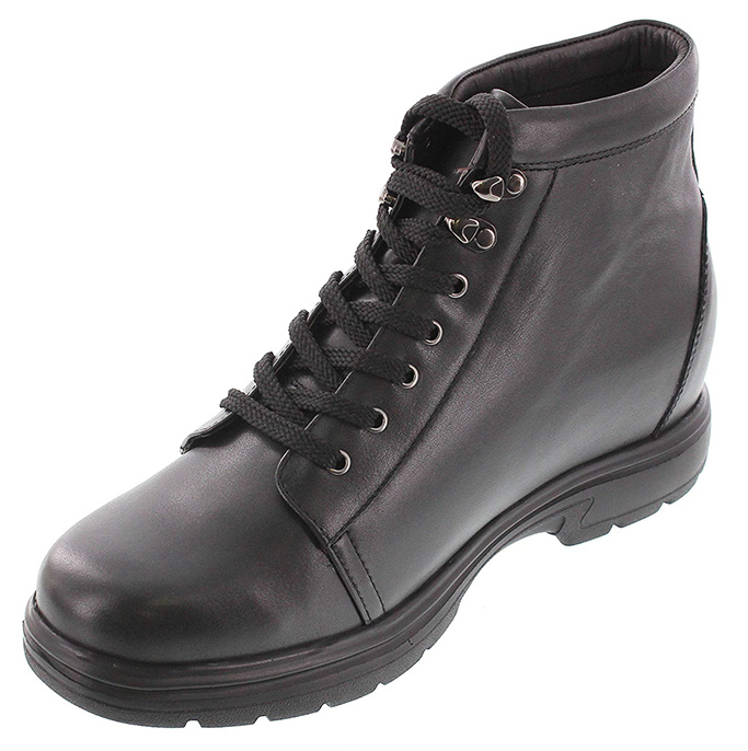 Toto Black Leather Ankle Boots