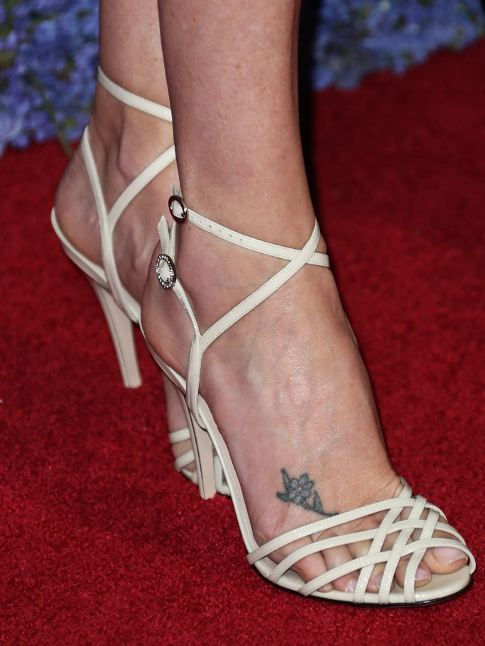 charlize theron, white heels