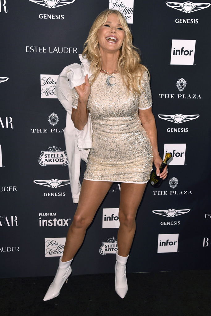 Christie Brinkley, red carpet, harpers bazaar icons