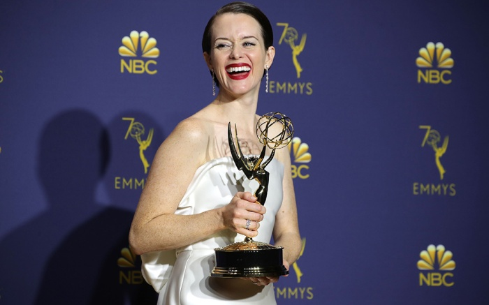 Claire Foy - Outstanding Lead Actress in a Drama Series - 'The Crown'70th Primetime Emmy Awards, Press Room, Los Angeles, USA - 17 Sep 2018