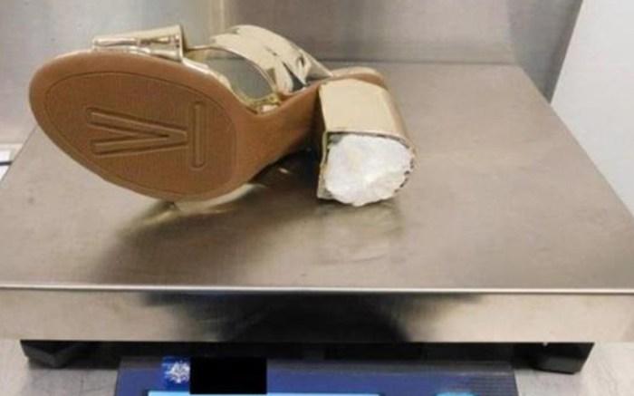 cocaine, high heels . drug smuggling