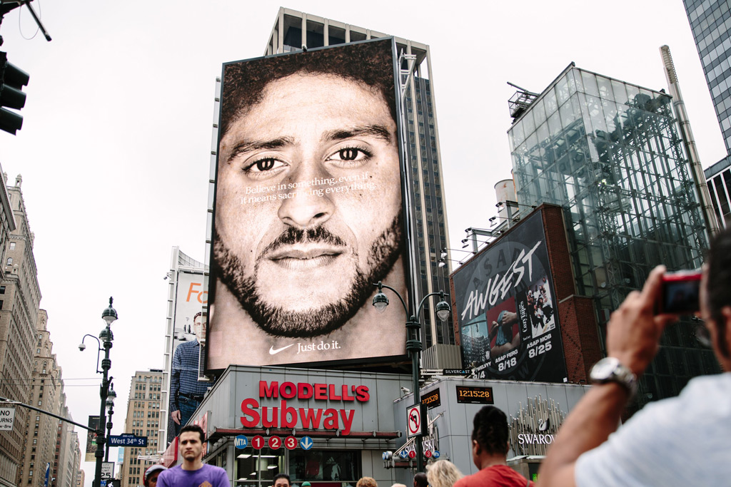Colin Kaepernick, Nike campaign
