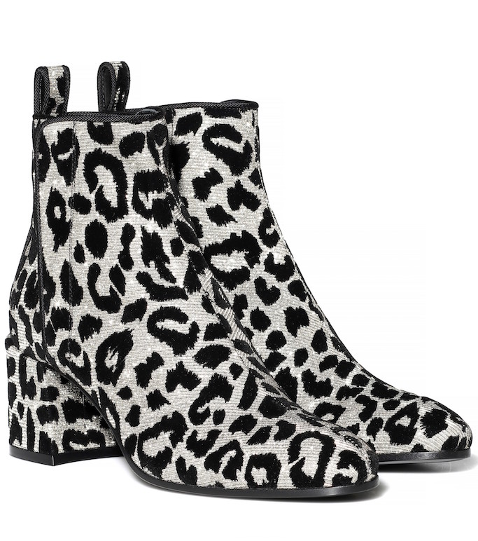 Dolce & Gabana Leopard Ankle Boots