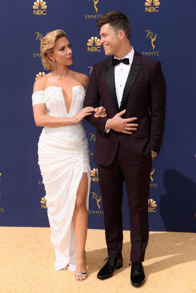 Scarlett Johansson, colin jost, emmys