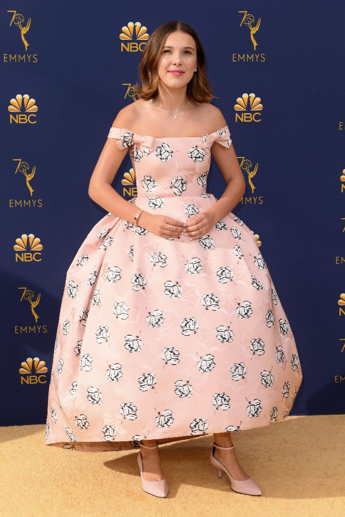 Millie Bobby Brown, red carpet, 2018 emmy awards, best dressed