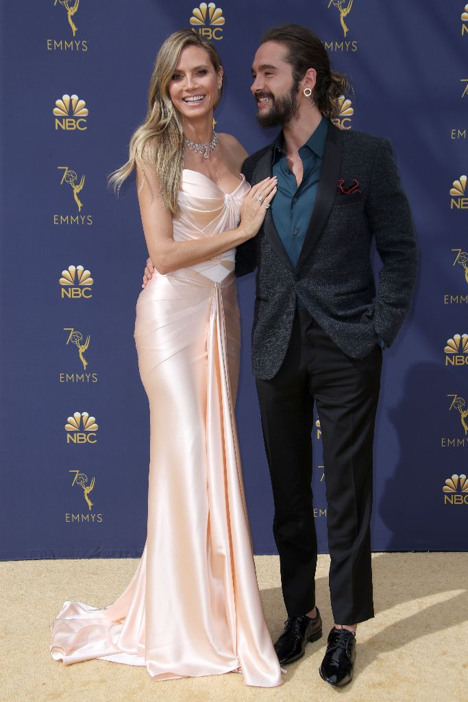 Heidi Klum and Tom Kaulitz, emmys red carpet