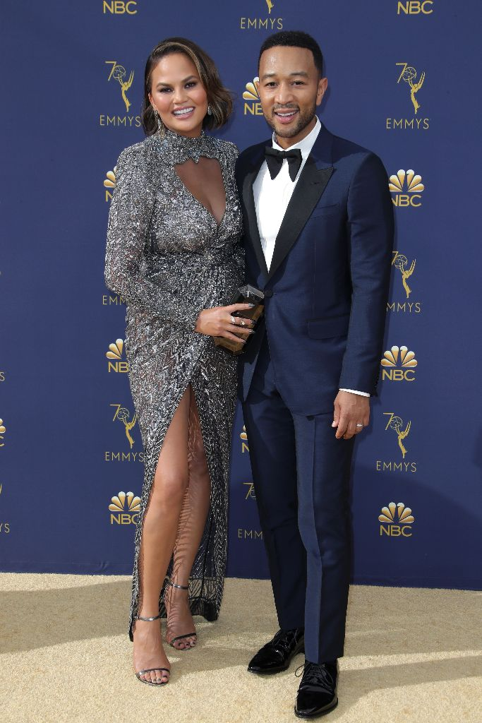 chrissy teigen, john legend, red carpet, 2018 emmy awards