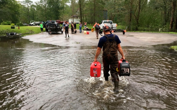 Flooding in North Carolina from Hurricane Florence.