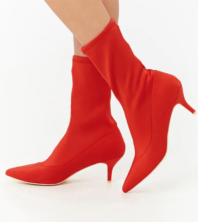 Forever 21 Kitten Heel Sock Boots