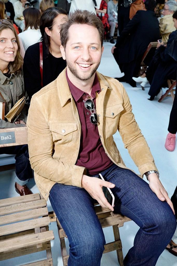 Derek Blasberg in the front rowDries Van Noten show, Front Row, Spring Summer 2019, Paris Fashion Week, France - 26 Sep 2018