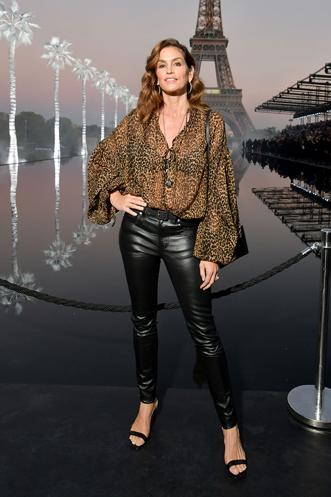 Cindy Crawford in the front rowSaint Laurent show, Front Row, Spring Summer 2019, Paris Fashion Week, France - 25 Sep 2018WEARING SAINT LAURENT SAME OUTFIT AS CATWALK MODEL *9080184aq
