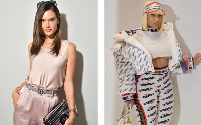 Alessandra Ambrosio, Nicki Minaj, Milan Fashion Week