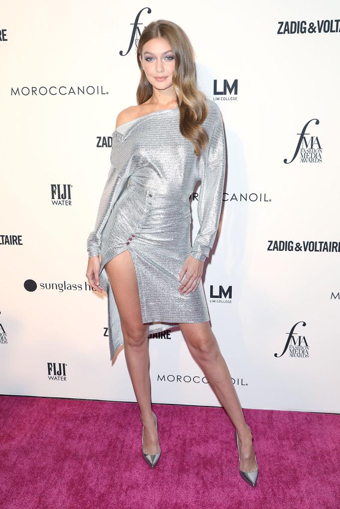 Gigi Hadid, Daily Front Row Awards, New York Fashion Week, style