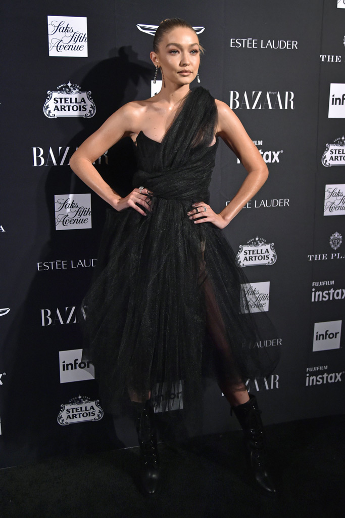 Gigi Hadid, red carpet, nyfw, harpers bazaar icons party
