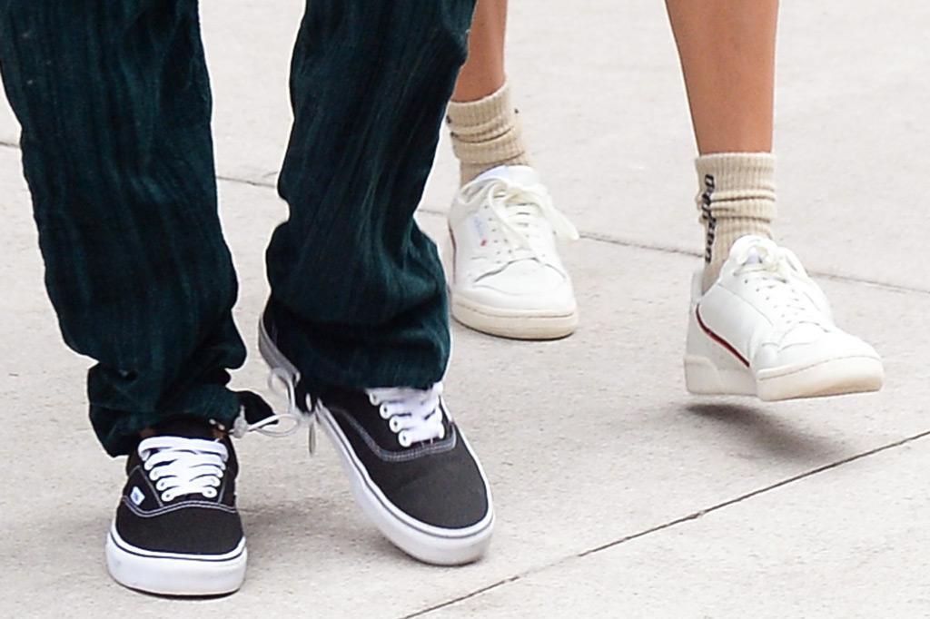 Justin Bieber, Hailey Baldwin, shoes, Vans, Adidas