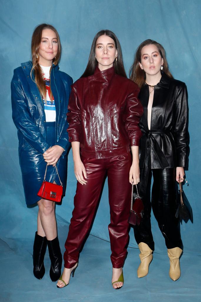Este Haim, Danielle Haim and Alana Haim, paris fashion week, givenchy, front row, spring 2019, runway