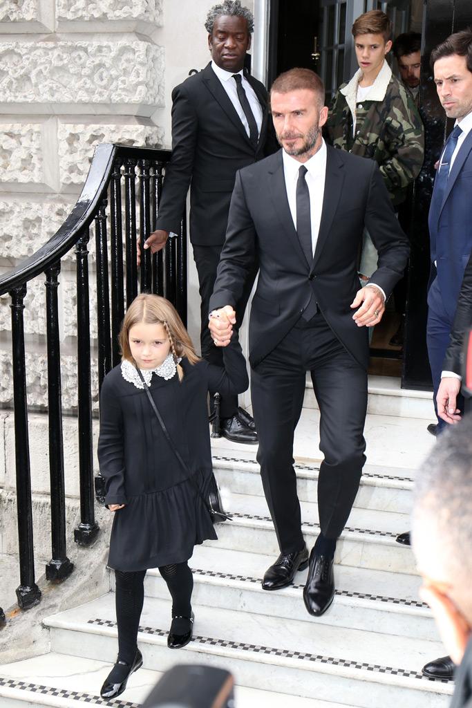 David Beckham, Harper Beckham, Victoria Beckham Spring 2019