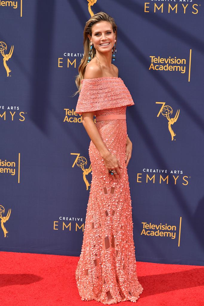 Heidi Klum, creative arts emmys, red carpet