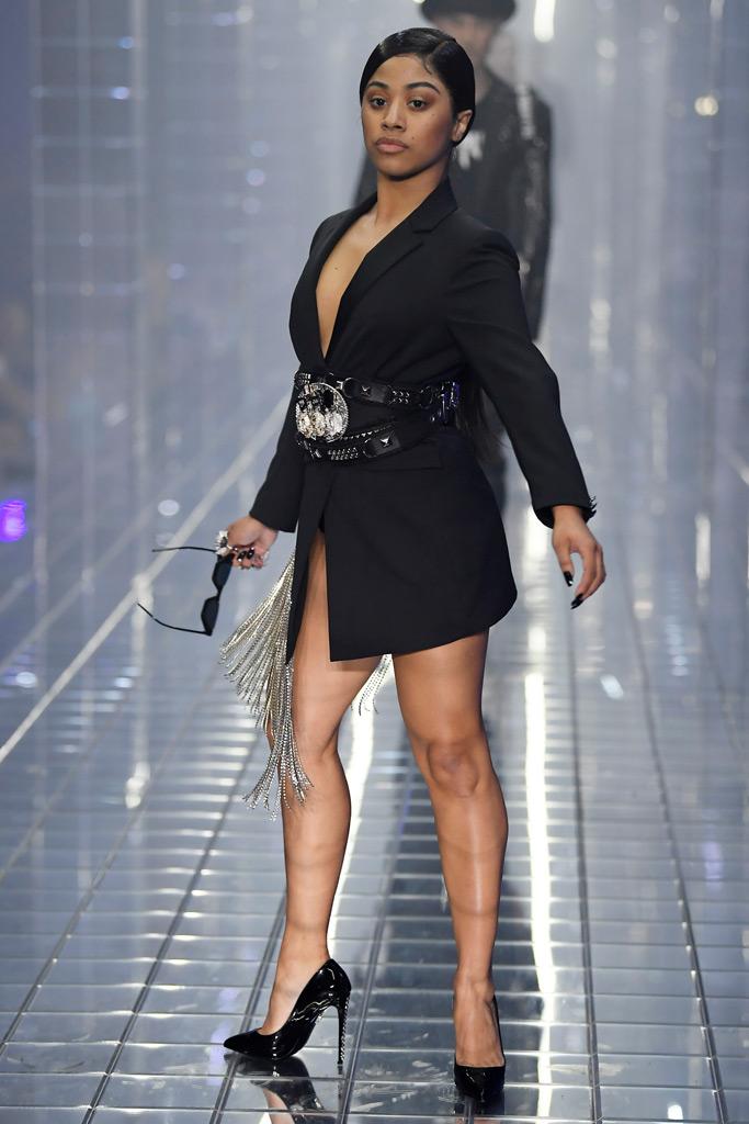 Hennessy Carolina, Philipp Plein, runway, Milan Fashion Week, spring 2019