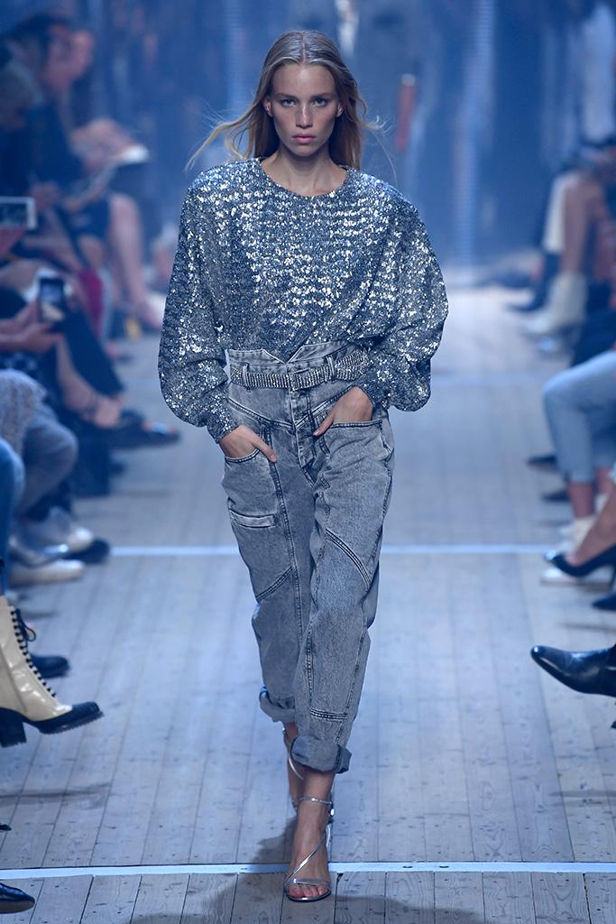 Model on the catwalkIsabel Marant show, Runway, Spring Summer 2019, Paris Fashion Week, France - 27 Sep 2018
