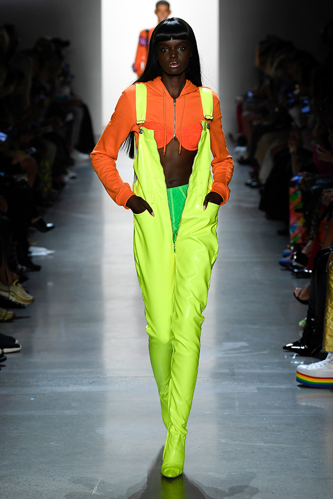 Model on the catwalkJeremy Scott show, Runway, Spring Summer 2019, New York Fashion Week, USA - 06 Sep 2018