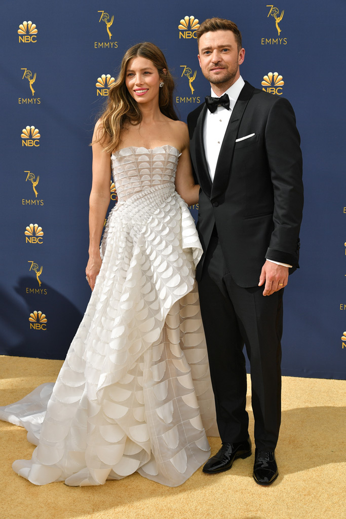 Jessica Biel and Justin Timberlake, red carpet, emmys 2018, 70th primetime emmy awards, best dressed